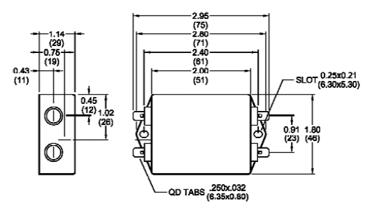 single phase emi filters   rp210 series