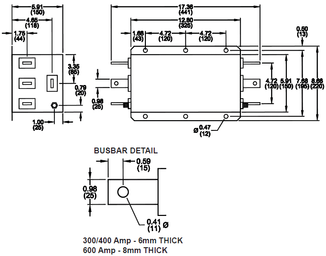 three phase emi filters   rp428 series