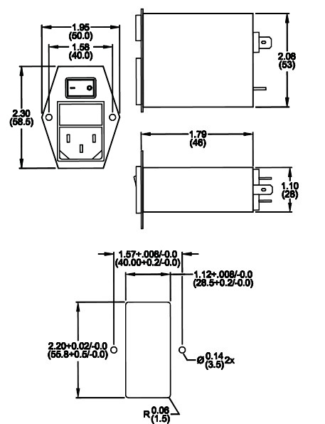 iec inlet filters   rp188 series
